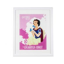 Pink snow white poster framed print