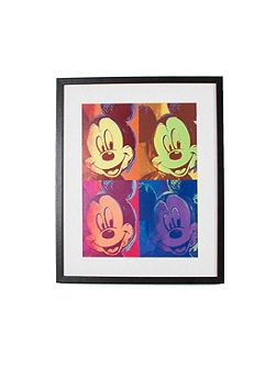 Yellow Mickey Mouse Pop Art Framed Print