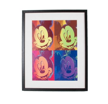 Graham & Brown Yellow Mickey Mouse Pop Art Framed Print