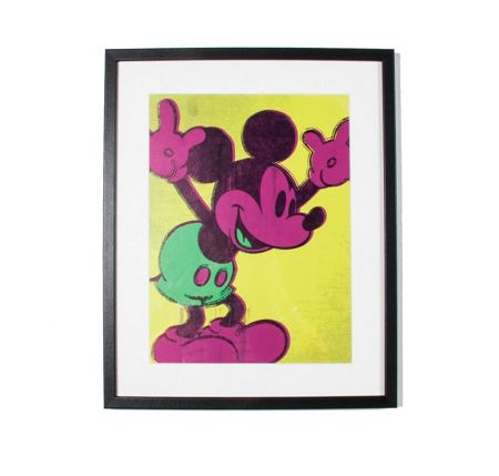 Graham & Brown Neon Mickey Mouse Framed Print