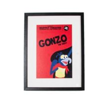 Red gonzo framed print