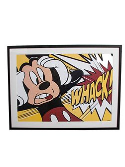 Red mickey mouse whack framed print