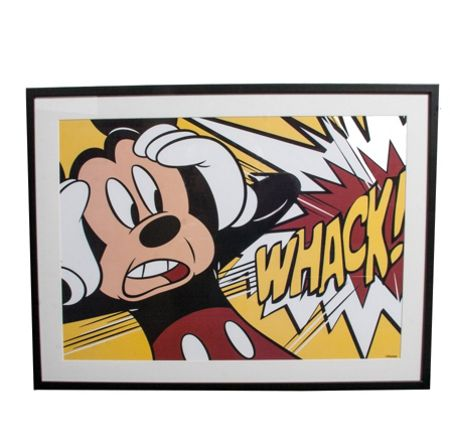 Graham & Brown Red mickey mouse whack framed print