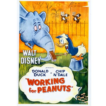 Graham & Brown Donald Duck Working for Peanuts Canvas