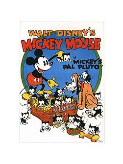 Mickey Mouse`s Pal Pluto Canvas