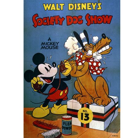 Graham & Brown Mickey Mouse Society Dog Show Canvas