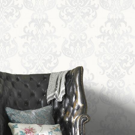 Graham & Brown White Versaille Wallpaper