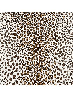 White/beige leopard wallpaper