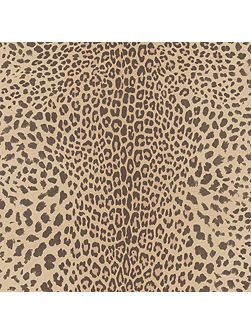Beige leopard wallpaper