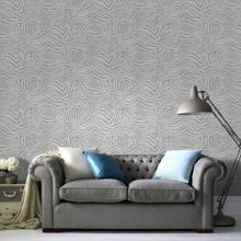 Graham & Brown White/grey zebra wallpaper