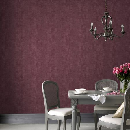 Graham & Brown Claret crocodile wallpaper