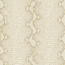 Graham & Brown White gold snake wallpaper