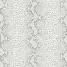 Graham & Brown White silver snake wallpaper
