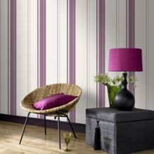 Graham & Brown Violet Gradient Striped Wallpaper