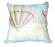 Graham & Brown Green air balloon cushion