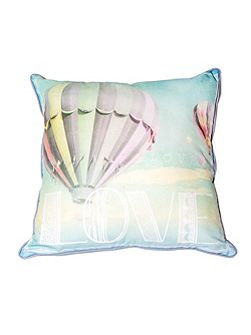 Green air balloon cushion