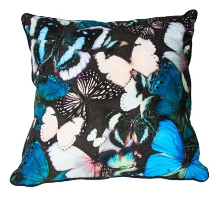 Graham & Brown Blue curio butterfly cushion