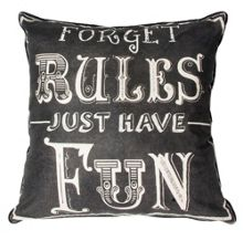 Black forget rules cushion
