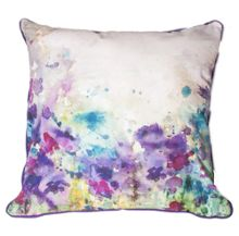 Purple meadow cushion