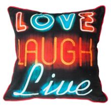 Black neon type cushion