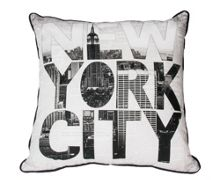 Black and white ny type cushion