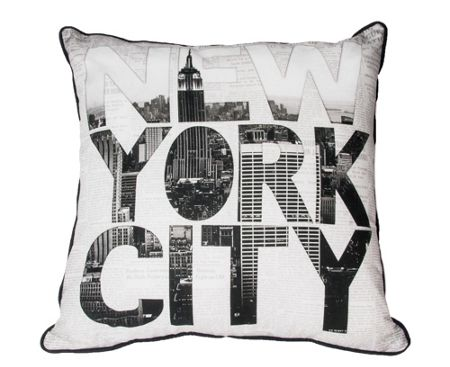 Graham & Brown Black and white ny type cushion