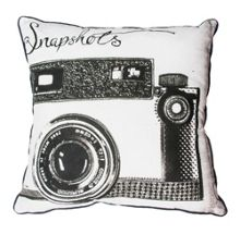 Black and white snapshots cushion