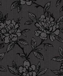 Graham & Brown Black & Grey Floral Bloom Wallpaper