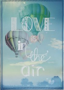 Green love is in the air printed canvas