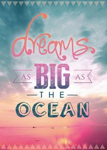 Graham & Brown Pink dreams as big as the ocean canvas