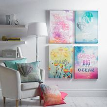 Pink dreams as big as the ocean canvas