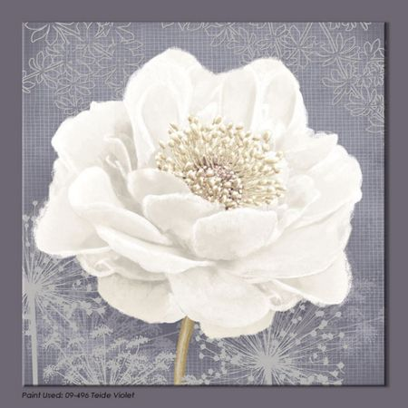 Graham & Brown White lilac bloom printed canvas