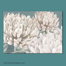 Graham & Brown Beige teal bloom printed canvas