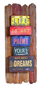 Graham & Brown Red metal dream metal art