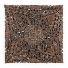 Graham & Brown ornate ethinic panel metal art