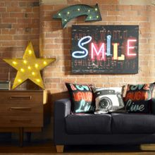 Graham & Brown Yellow lit star metal art