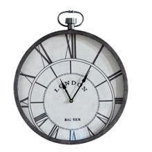 Metallic pocket watch clock metal art