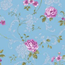 Graham & Brown Graham & Brown Northern Rose Blue/Pink Wallpaper