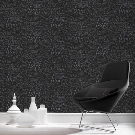 Graham & Brown Black dreams come true wallpaper