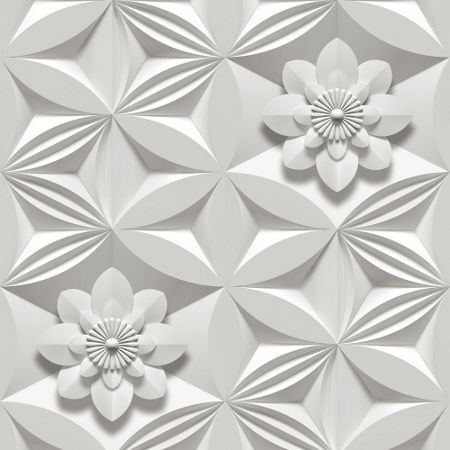 Graham & Brown Limestone wall flower wallpaper