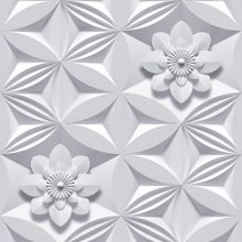 Graham & Brown Grey wall flower wallpaper