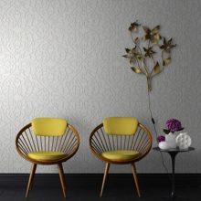 Graham & Brown Birch heart & tulip wallpaper
