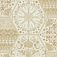 Graham & Brown Gold world heritage wallpaper