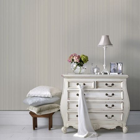 Graham & Brown White maestro stripe  wallpaper