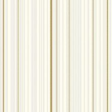 Graham & Brown White & gold maestro stripe  wallpaper