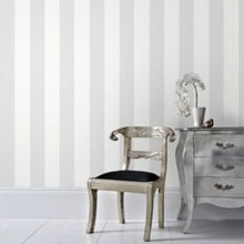 Graham & Brown Grey Calico Stripe Wallpaper