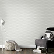 Graham & Brown Triangolin Grey Geometric Wallpaper