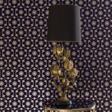 Graham & Brown Metallic Violet Funky Flora Wallpaper