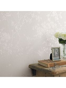White Shimmer Spring Blossom Wallpaper