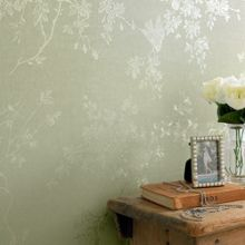Graham & Brown Green Shimmer Spring Blossom Wallpaper